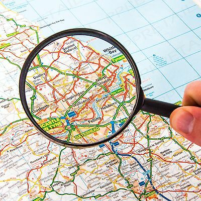 """80mm / 3"""" MAGNIFYING GLASS Minimal Optical Distortion Hobby/Print/Map/Reading"""