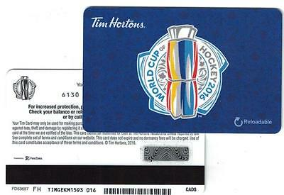 Tim Hortons ( 2 ) 2016 World Cup Hockey Gift Cards FD53657 FH