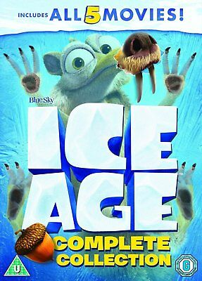 Ice Age 1 - 5 + Mammoth Christmas Complete Dvd Collection Set New