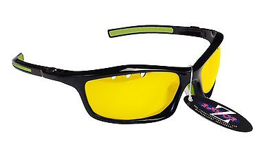 RayZor Uv400 Light Enhancing Clear Yellow Vented Sailing Wrap Sunglasses RRP£49