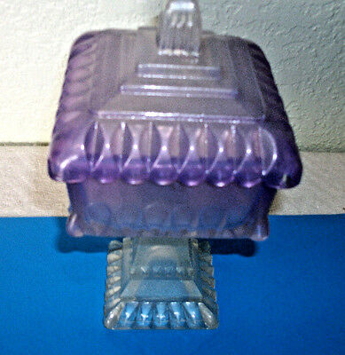 Carnival Glass  Candy Bowl FROSTED LAVENDER Covered Candy DISH