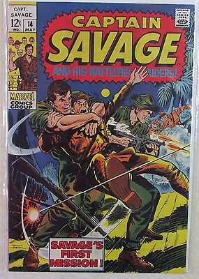 Marvel Comics -Captain Savage #14 - Silver Age Comic Book 1960s -12 Cent Cover