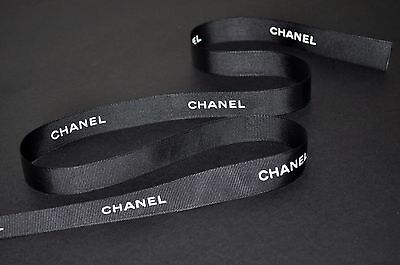Chanel black ribbon gift pack package 20mm/2cm wide. 1m 2m 3m 4m 5m or more