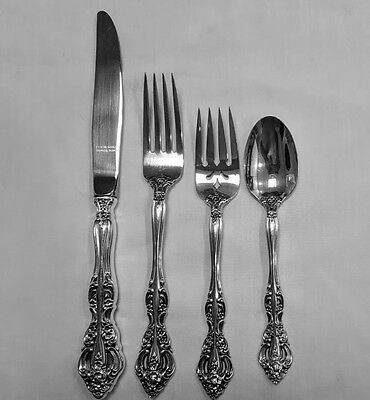 4 Piece Place Settings Michelangelo Oneida Sterling 16 Available Excellent!