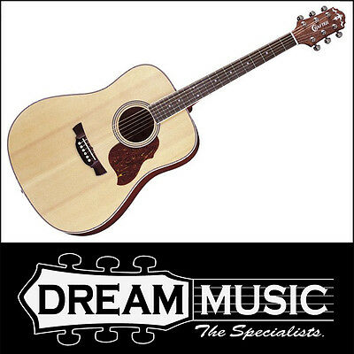 Crafter D6/N Solid Spruce Top Dreadnought Acoustic/Electric Guitar RRP$499