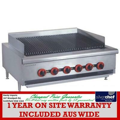 Fed Commercial Natural Gas 6 Burner Char Grill Chargrill Top Bench Bbq Qr-36