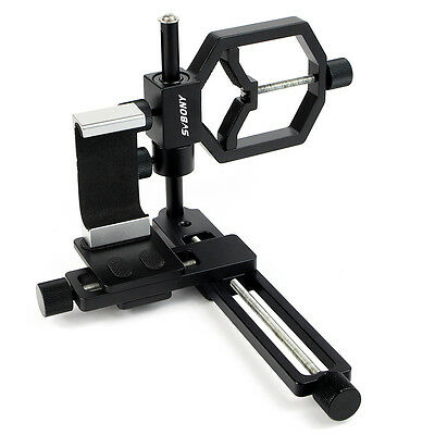 Universal Mobile Phone Camera Spotting Scope Telescope Mount Biaxial Trimming MY