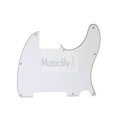Musiclily 3Ply 8 Holes PVC Pickguard For Fender US Standard Esquire Style Guitar