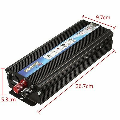 HOT 2000W 12V DC to 110V AC Modified Sine Wave Power Inverter Car Truck Vehicle