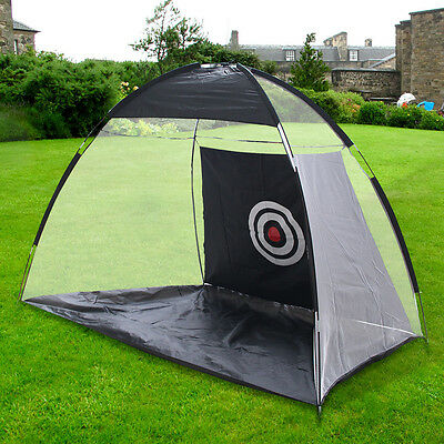 Golf Practice Net Training Mat Practicing Outdoor Small Space Garden Removable
