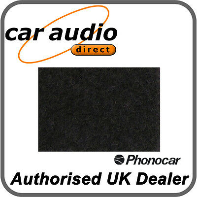 Phonocar 4/360 Car Speaker Shelf Subwoofer Box Enclosure Adhesive Black Carpet
