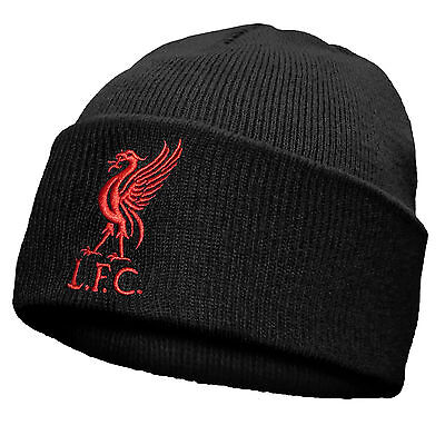 Official Authentic Liverpool Beanie Knit Woolly Hat Lfc Red Liverbird