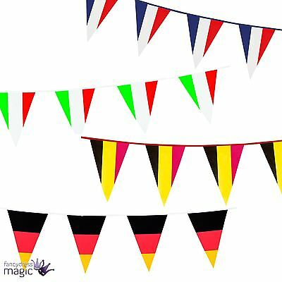 10m Pub Country Flag Festival Party World Cup Football Banner Bunting Decoration