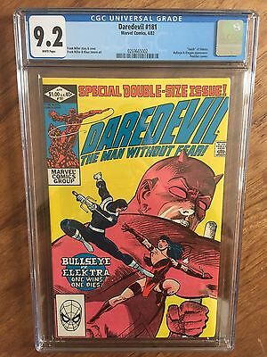 Daredevil  #181  Cgc 9.2   White Pages  (Death Of Elektra)
