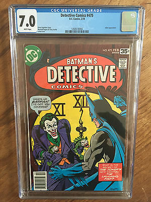 Detective Comics  #475   Cgc 7.0   White Pages