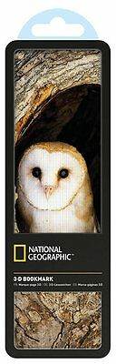 National Geographic 3-D Bookmark Hologram Barn Owl Office School Gift
