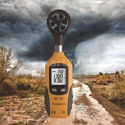 HT-81 Digital LCD Anemometer Wind Speed Meter Tester Temperature Thermometer