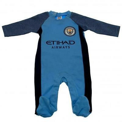 Official Licensed Product Manchester City Sleepsuit 3 / 6 Months ST Babygrow