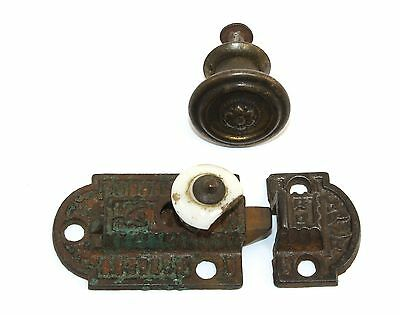 Vintage Cabinet Springloaded Latch And Pull  N431