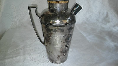 Epbm Silver Plated Decanter Pat'd Dec 1915
