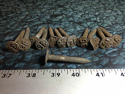 "Lot of (12) Vintage Railroad Spikes 2"" No. 36 Round Cut"