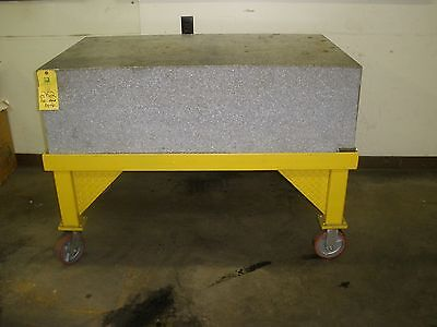 """51"""" x 30"""" x 17"""" Thick Precision Granite Surface Plate W/ Stand"""