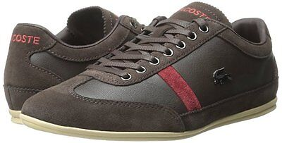 29dbf22b6587 Men s Shoes Lacoste Misano 22 Leather Sneakers 7-29SRM2146176 Dark Brown   New