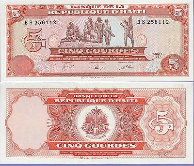 Haiti 5 Gourdes Banknote 1987 Uncirculated Condition Cat#246