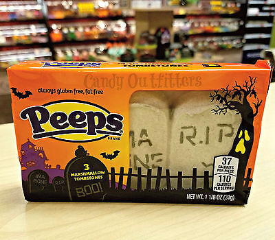 Halloween Peeps - Marshmallow Candy - 3 Tombstones - Holiday Party Favors