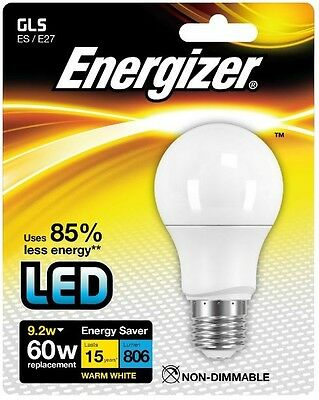 Energizer E27 Warm White Blister Pack Gls 9.2w