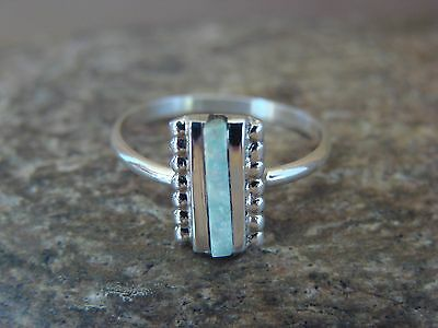 Native American Indian Jewelry Sterling Silver Opal Ring! Size 6
