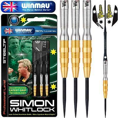Winmau Simon Whitlock Darts,Gold,22g or 24g,Steel Tip,90% Tungsten,FREE POSTAGE