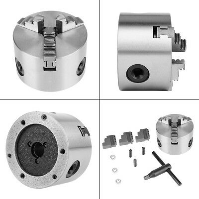 """3 Jaw 3"""" 80MM Lathe Chuck Self-Centering Precision Hardened Steel CNC Drilling"""
