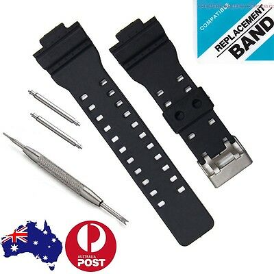 16mm WATCH BAND STRAP FITS CASIO G SHOCK GA-100 G-8900 GW-8900 PINS TOOL gshock
