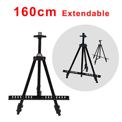 Artist Field Studio Folding 1.6m Telescopic Painting Easel Tripod Display Stand