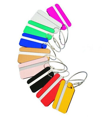 Metal Luggage Tags Label Secure Travel Baggage Suitcase Address Name ID