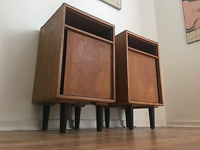 Vintage Pair of Bedside Cabinets John And Sylvia Reid For Stag