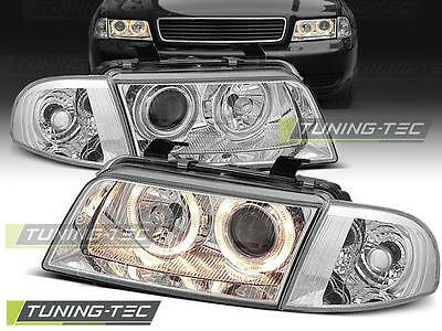 Angel Eyes Scheinwerfer Set Audi A4 B5 BJ 11.94-12.98 Chrome
