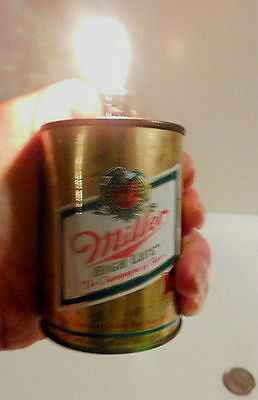 Vintage Miller High Life Can Lighter Mini Can / Beer / Brew / Barware