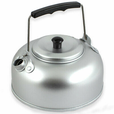 Aluminium 1 Quart Compact Camping Hot Water Maker Pot Stove Tea Coffee Kettle