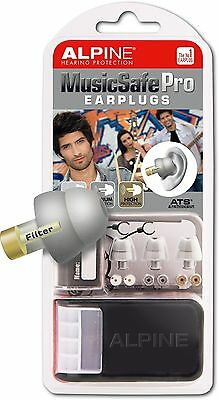 Alpine MusicSafe Pro Filter Ear Plugs for Musicians - Silver