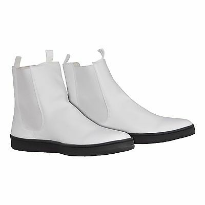 White Ankle Boots with Flat Sole for a First Order Stormtrooper Costume -from UK