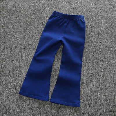 Toddler Kids Baby Girl Clothes Vintage Trousers Flared Denim Pants Infant Outfit