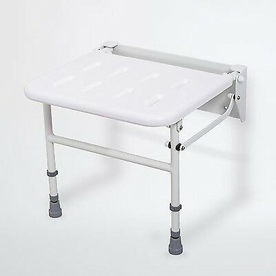 Patterson Medical Wall-Mounted Height Adjustable Shower Seat with Unpadded Seat
