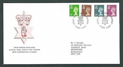 GB 1991 FDC. New Definitive Stamps - Northern Ireland. Cancel Belfast - 03/12/91