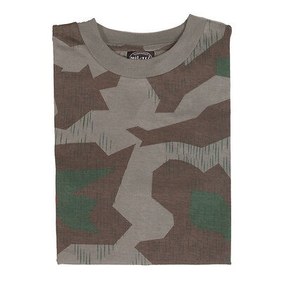 German Splinter Camo Camouflage Military Army Short Sleeve T-Shirt Top ALL SIZES