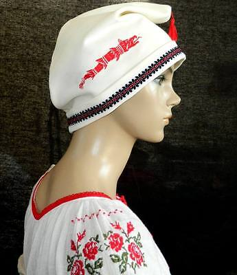 Romanian Embroidered Dacian Thracian Hat all custom sizes