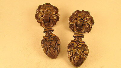 Pair of Antique ,Brass drop handles,Re claimed used condition. 2 Pairs available