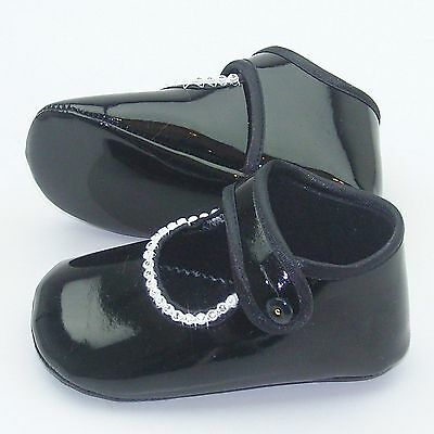 CQ22786 Cuquito Girls Baby Diamante Pram Shoe