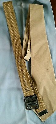Original Vintage Military Lot Of Wwii Us Army Tan Tie And Khaki Belt Jqmd 1943